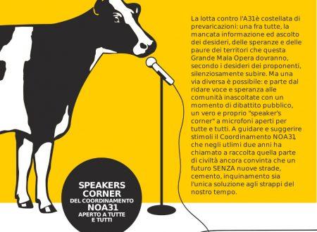Speakers' corner del Coordinamento NO A31 – Valdastico Nord